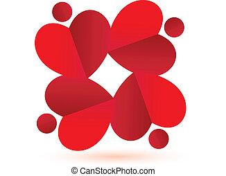 Logo del equipo de corazones