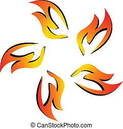 Logo del equipo de fuego