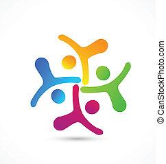 Logo del equipo de negocios