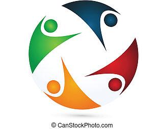 Logo del equipo vector