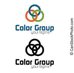 Logo del grupo de color