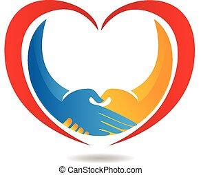 Logo del negocio del corazón