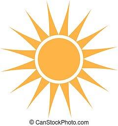 Logo del sol de verano. Diseño gráfico Vector