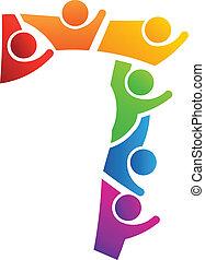 Logo del trabajo en equipo número 7