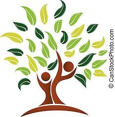 Logo del vector del árbol