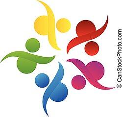 Logo equipo de trabajo comunitario ayuda