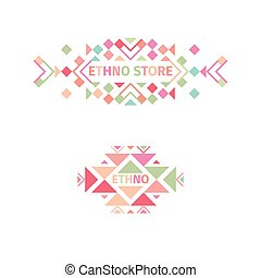 Logo tribal fijado en fondo blanco