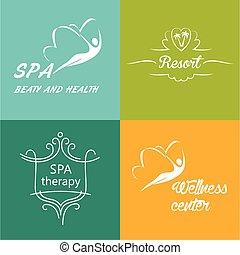 Logos vectoriales para el centro de bienestar, spa