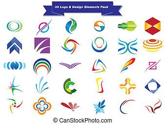 logotipo, 30, muestras