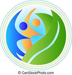 logotipo, armonía, gente