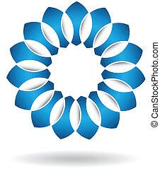 Logotipo azul abstracto