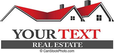 logotipo, bienes raíces