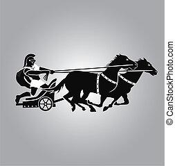 logotipo, carruaje