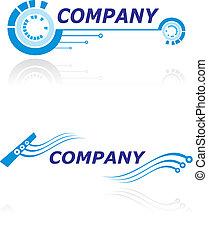 logotipo, compañía, moderno