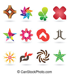 Logotipo contemporáneo y colección de iconos