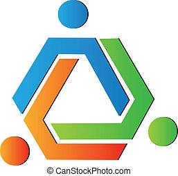 Logotipo creativo del equipo