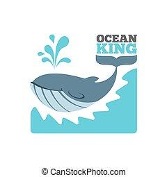 Logotipo de ballena o póster