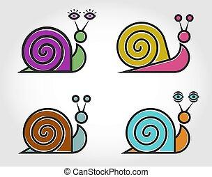 Logotipo de caracol vectorial