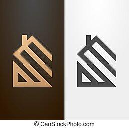 Logotipo de casa simple, icono.
