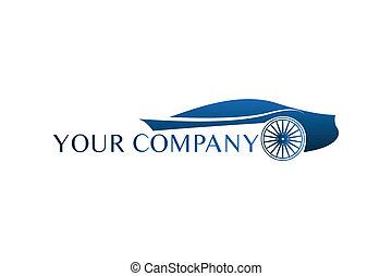 Logotipo de coche azul
