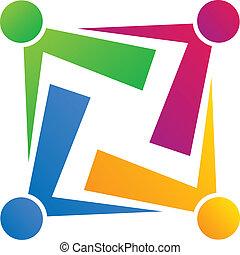 Logotipo de conexión de equipo