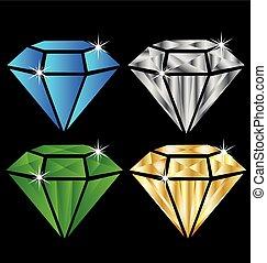 Logotipo de diamantes
