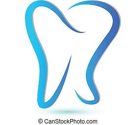 Logotipo de dientes estilizado