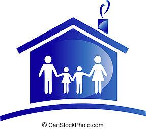 Logotipo de familia y casa