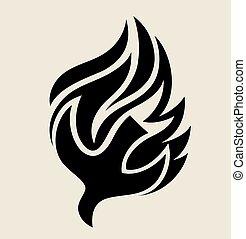 Logotipo de fuego santo