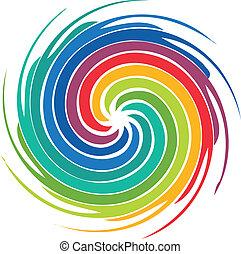 Logotipo de imagen de colorido abstracto