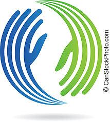 Logotipo de imagen de pacto de manos