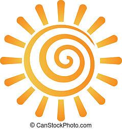 Logotipo de imagen solar abstracto