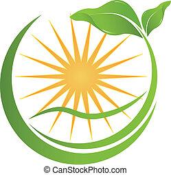 Logotipo de la naturaleza de la salud para su compañía