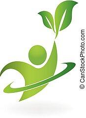 Logotipo de la naturaleza sana