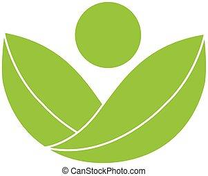 Logotipo de la salud verde