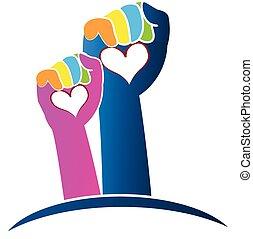 Logotipo de manos