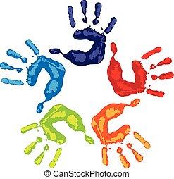 Logotipo de manos de trabajo