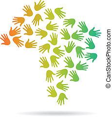 Logotipo de mapa de Brasil