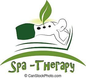 Logotipo de masajes Spa