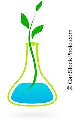 Logotipo de medicina verde