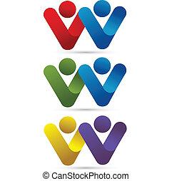 Logotipo de parejas