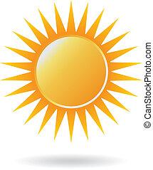 Logotipo de poder solar