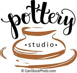 Logotipo de Pottery Studio