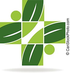 Logotipo de salud alternativa