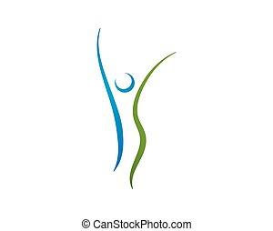 Logotipo de salud. Señal de logo de la naturaleza.