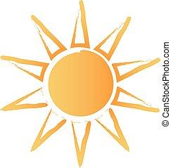 Logotipo de sol rozado