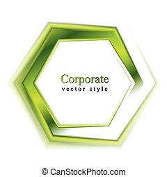 Logotipo de tecnología verde brillante