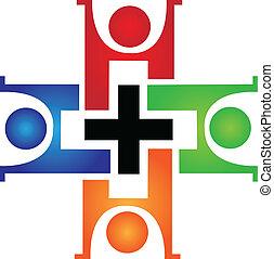 Logotipo de trabajo médico