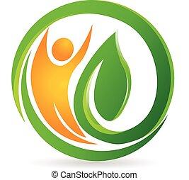 Logotipo de vector de naturaleza sana
