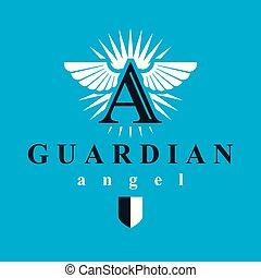 Logotipo de vector gráfico de espíritu santo para uso en organizaciones educativas y religiosas.